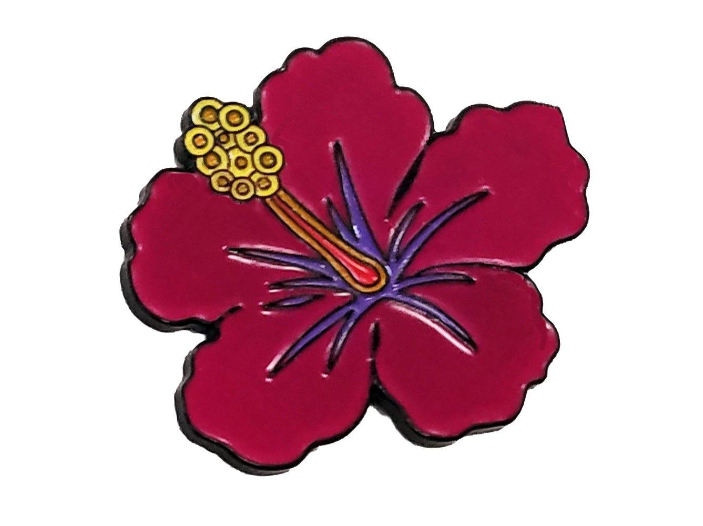 Amazon hawaiian hibiscus flower enamel pin everything else izmirmasajfo