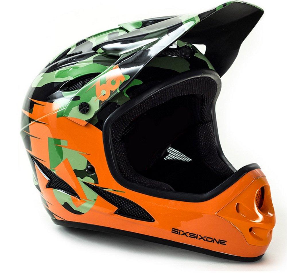 661 SixSixOne Comp Full Face Gravity MTB DH Helmet – CSPC – CAMO ORANGE CLOSEOUT _7166-21