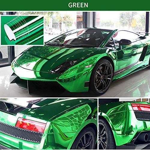 Adesivo per Auto Pellicola Adesiva Fai da Te Verde KKmoon Pellicola in Vinile specchiato Elastico