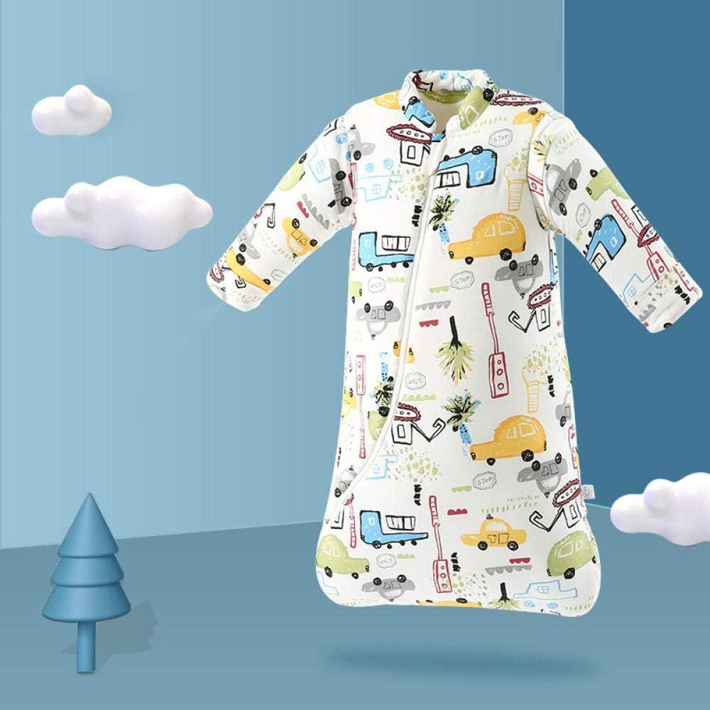 Dtcat Saco de Dormir con pies,Saco de Dormir para bebés,Saco de Dormir de algodón Engrosado de una Pieza para niños @ F_S,Unisex,Saco de Dormir para bebés-Cierre de Seguridad: Amazon.es: Hogar