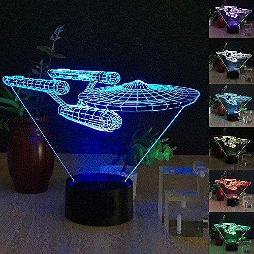 Enterprise Light - Star Trek USS Enterprise 3D LED Night Light 7 Color Touch Switch Table Desk Lamp