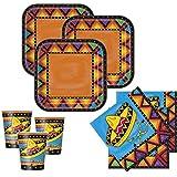 48 Teile Fiesta Mexicana Party Deko Set für 16 Personen