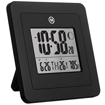 Marathon cl030049p Digital reloj de pared con fase de la luna: Amazon.es: Hogar