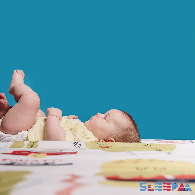 Manta de juegos para beb/és acolchada plegable enrollable gimnasio suelo actividades alfombra Tama/ño /único 130x90 cm Fabricada en Espa/ña Decoracion Regalo bebe Happy Whales
