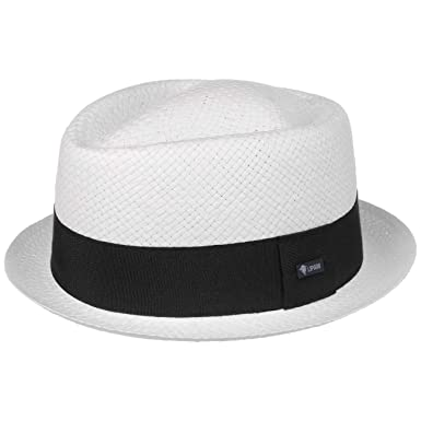 28f03063e26 Lipodo Amatillo White Pork Pie Straw Hat Summer  Amazon.co.uk  Clothing