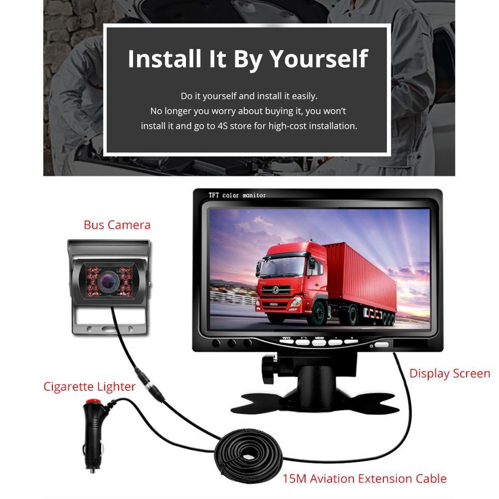 Amazon com: 7 inch Monitor with heavry Duty Reverse Rear