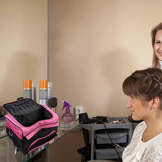 Semme Estuche de almacenamiento de herramientas de peluquería, Peluquería Diseñador de sesión Bolso de peluquería móvil grande: Amazon.es: Hogar