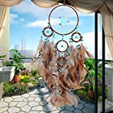 ESHOO Large Brown Dream Catcher Traditional Style Dreamcatcher