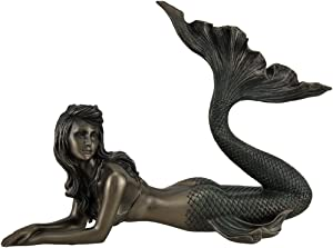 VERONESE Mermaid Lying Down Statue Sculpture Nautical Figurine