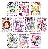 30 Sheet My Little Pony Friendship Magic Temporary Tattoos Party Favor Pack - Includes Pinkie Pie, Rainbow Dash, Applejack, Fluttershy, Rarity, Twilight Sparkle, Luna and Princess Celestia