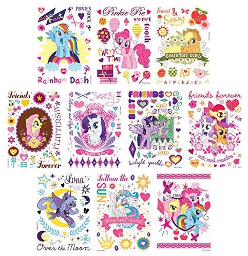 30 Sheet My Little Pony Friendship Magic Temporary Tattoo...