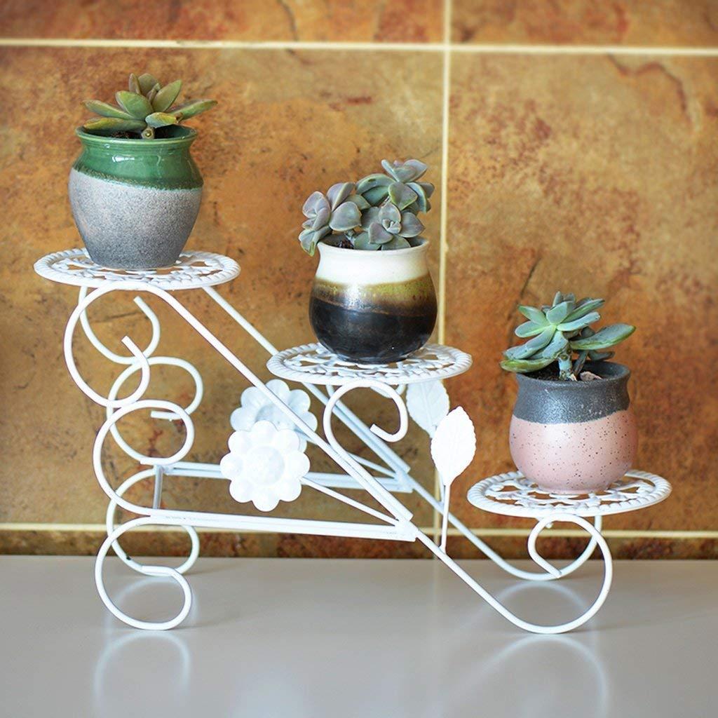 AILIWEI Cremagliera del Vaso del Fiore del Basamento di Mostra della pianta del Bonsai del Pavimento (20  39cm) (colore   Bianca)