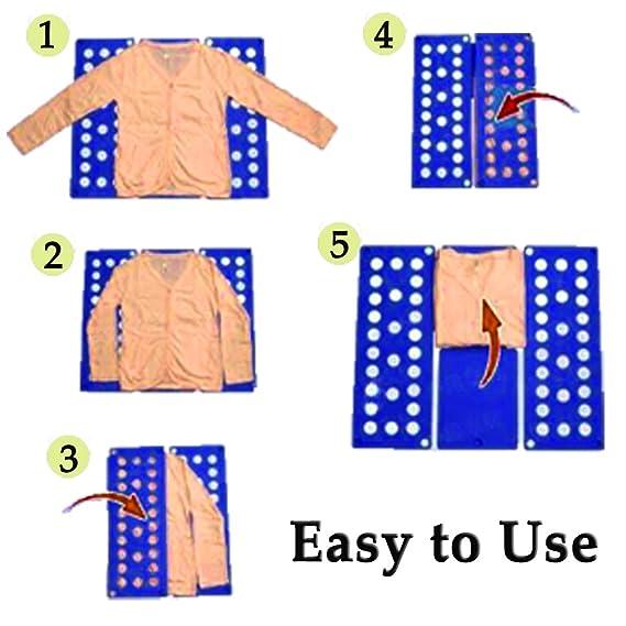 Ever Oasis Doblador de Ropa Infantil - Duradero Organizador Plegable de Camisas Camisetas Calzones - Uso Fácil, Sencillo y Rápido, Ideal Regalo para Hogar y ...