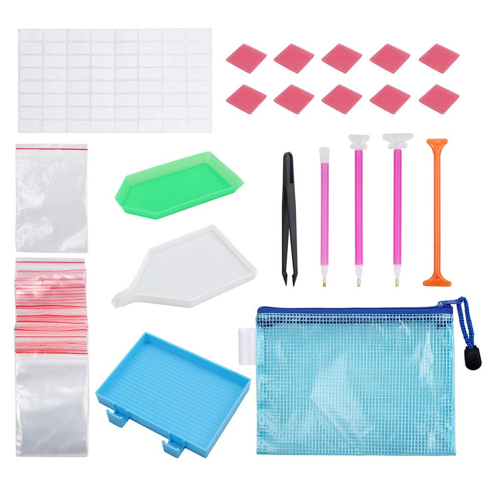 Tulas Diamond Painting Tools Set Sticky Pen Tweezer Plate Glue Bags DIY Painting Craft Accessories 70pcs