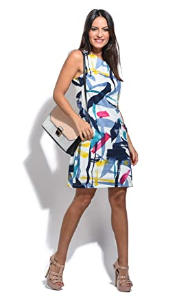 For Her Paris Dress Perm Women White at Amazon Women's