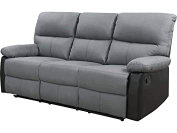 habitatetjardin Sofá reclinable 3 plazas Lincoln - Color ...