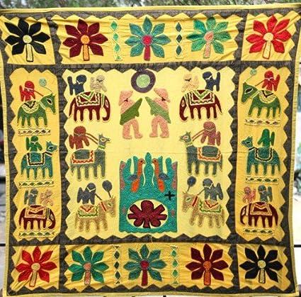 Diseño indio tapiz, Mantel, indio bordado decorativo para colgar en ...