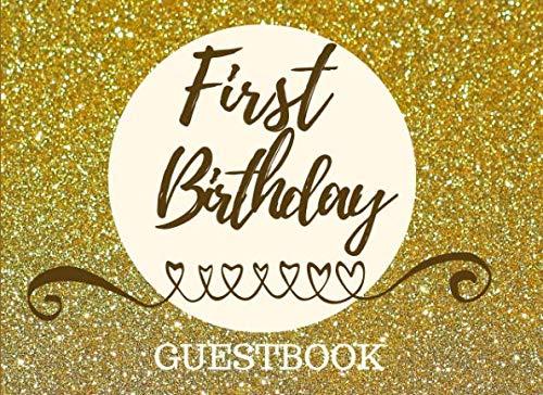 First Birthday Guestbook: Registry Memory Keepsake - Signature Registration Guest Book ()