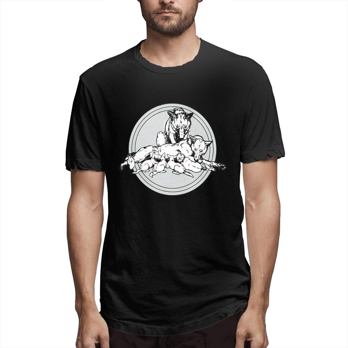 Linqarcon Mens Design with Bad Company Run with The Packs Weekend Round Neck Short Sleeve Tee Shirt