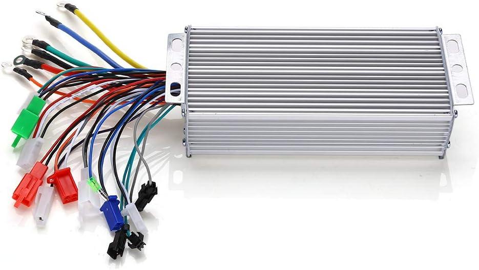 48V 500W Controlador de Motor de Onda sinusoidal sin escobillas Controlador de Scooter E-Bike Accesorio de Bicicleta el/éctrica F/ácil de Instalar y Duradero Vikye Controlador de Motor