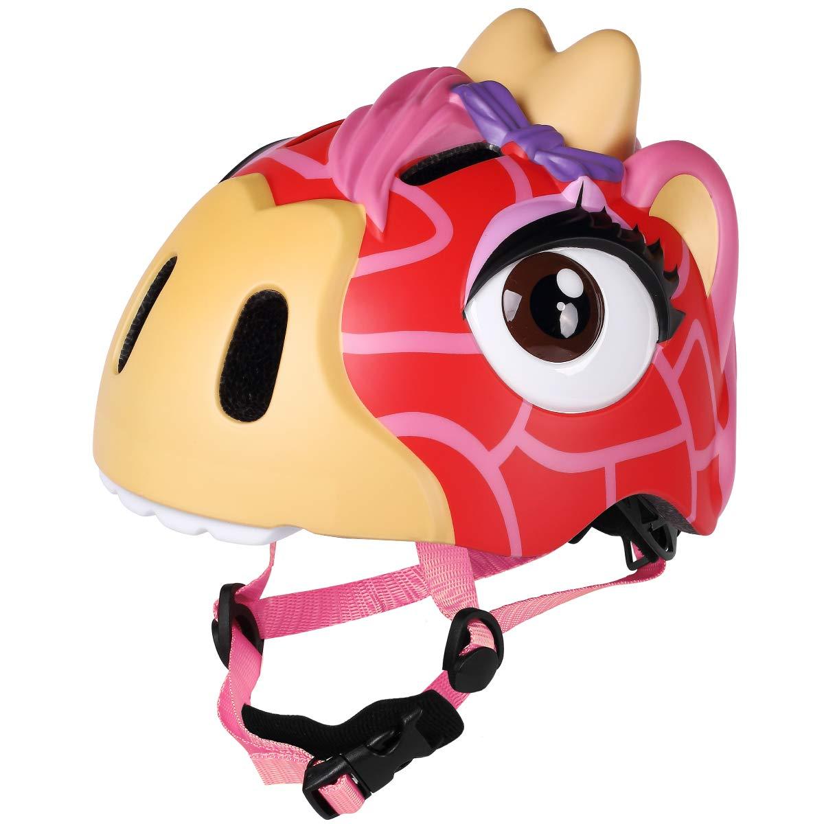 M Merkapa Kids Bike Helmet Adjustable 3D Shark Bicycle Helmets for Toddler and Youth (Deerlet)