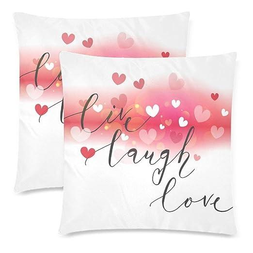 SunShine Day - Funda de cojín romántica con Forma de corazón ...