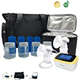BelleMa Euphoria Pro Double Electric Breast Pump, Innovative 3D Pump System, Hospital Grade Closed System/IDC/Touch Screen/Cordless (Value Pack)