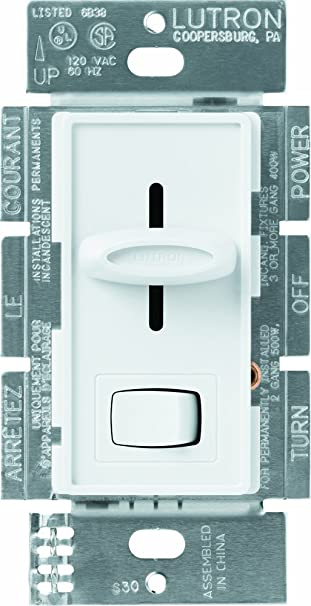 6195uOBj3LL._SY606_ lutron s 600p wh 600 watt skylark single pole dimmer, white wall  at bakdesigns.co