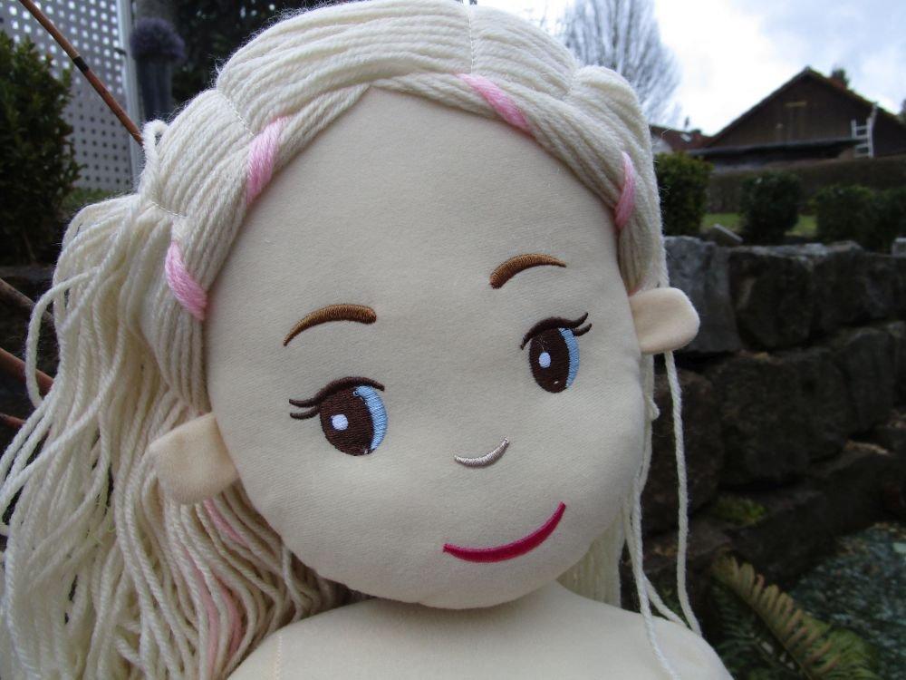 Pl/üsch Puppe rosa ca.90cm 751-22 Stoffpuppe Meerjungfrau mit Glitzer Flosse