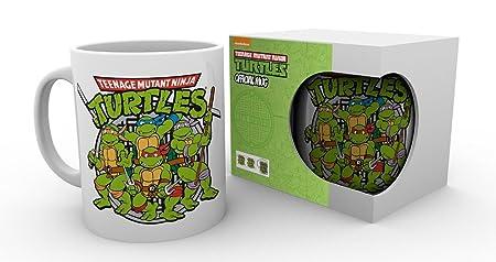 GB Eye LTD, Tortugas Ninja, Retro Logo, Taza: Amazon.es: Hogar