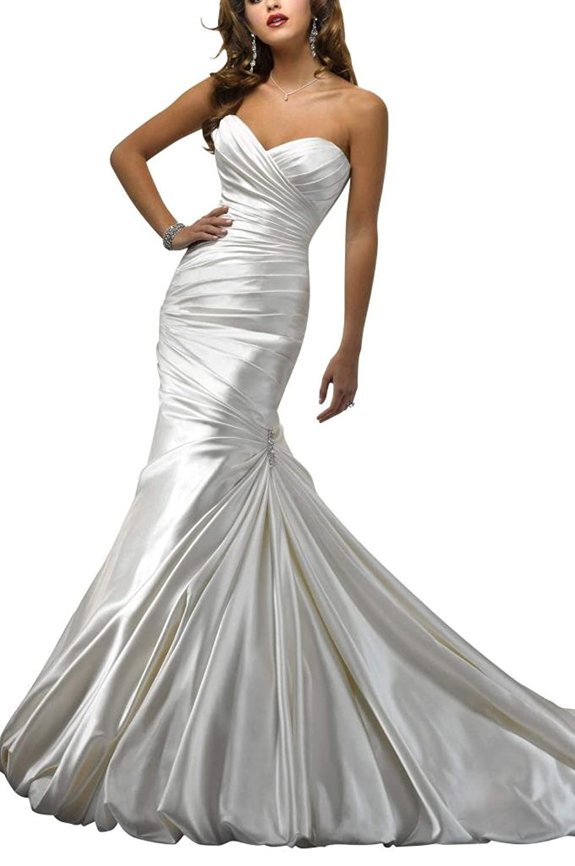 GEORGE BRIDE Simple and elegant high-grade satin wedding dress