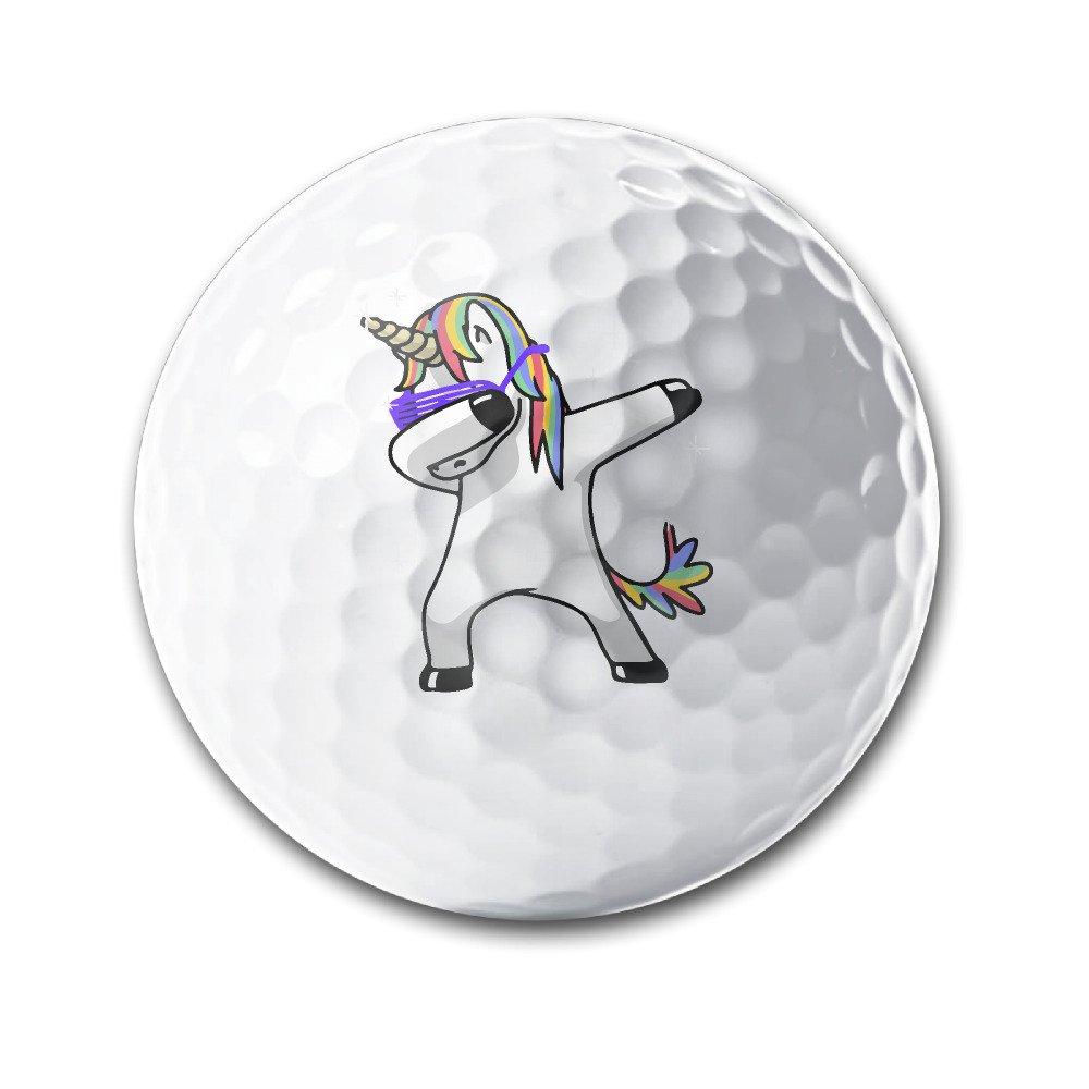 Dabbing Unicorn White Elastic Golf Balls Practice Golf Balls Golf Training Aid Balls