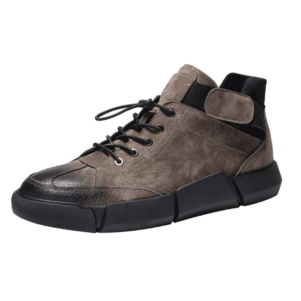 QIDI Lässige Schuhe Männlich Winter Eben Spitze Verschleißfest Retro Bewegung (größe   US11 EU43 UK9)