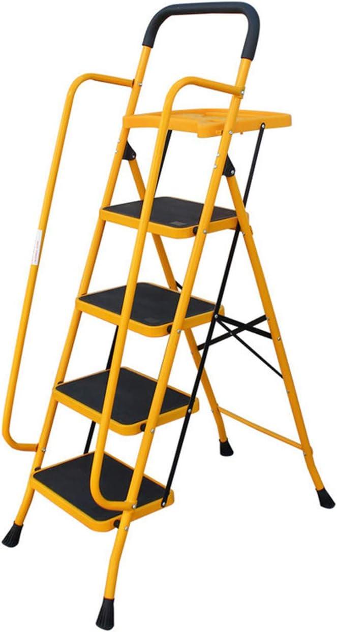 Escalera De Seguridad Plegable De 4 Escalones / 5 Escalones -Taburete Plegable Con Pasamanos Laterales Antideslizantes, Escaleras De Mano Para Uso Doméstico Y De Oficina,5Step: Amazon.es: Bricolaje y herramientas
