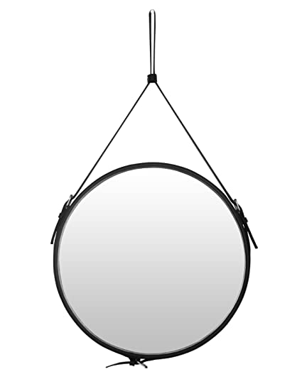 Amazon Com Top Notch Pu Leather Round Wall Mirror For Your Home