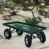 10'' 1000Lbs Wheelbarrow Outdoor Garden Wagon Nursery Cart Pneumatic Tires Holds
