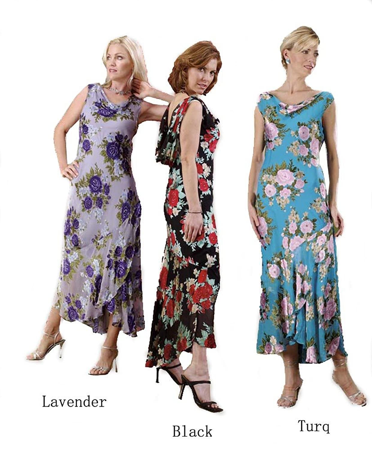 1920s Day Dresses, Tea Dresses, Garden Party Dresses Aris.a Womens Floral Sleeveless Silk Dress $149.99 AT vintagedancer.com