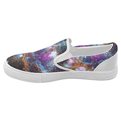 InterestPrint galaxy Slip-on Canvas Shoes for Women