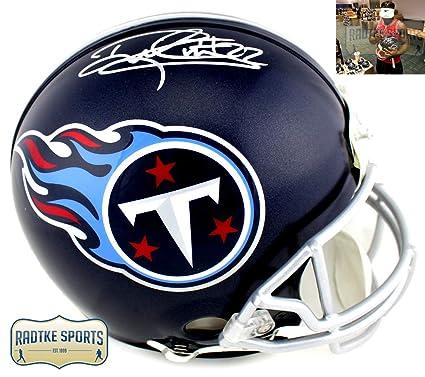 Derrick Henry Autographed Signed Tennessee Titans Riddell Full Size  Authentic NFL Blue Helmet af4e37e98