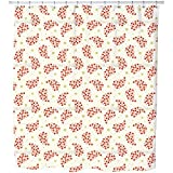 Uneekee Mini Flowers Shower Curtain: Large Waterproof Luxurious Bathroom Design Woven Fabric