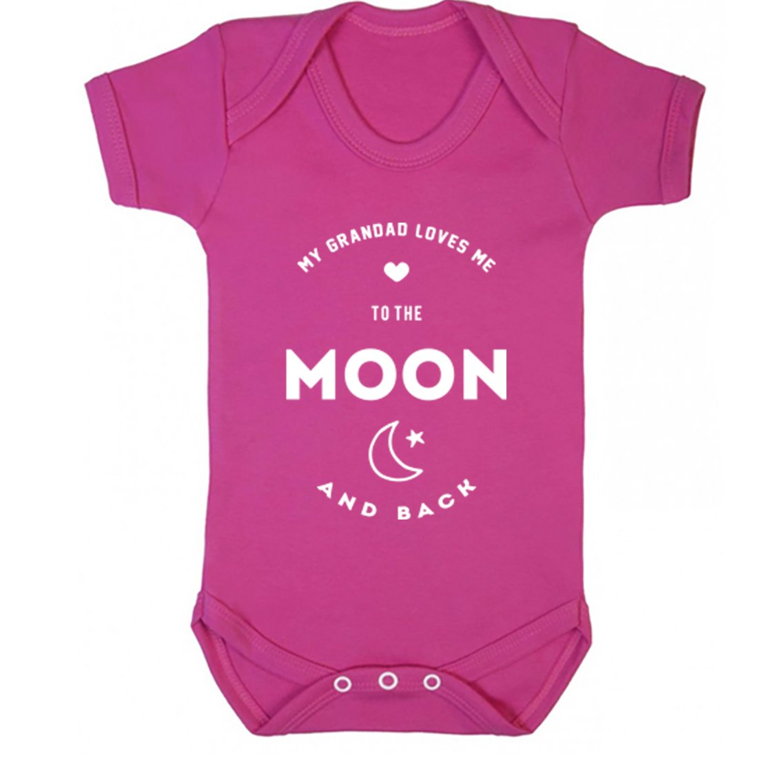 Illustrated Identity My Grandad Loves Me To The Moon and Back Vest Boys Girls