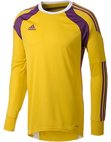 109ed1e6da0 adidas Goal Keeper Shirt Boys Girls Junior Onore 14 Padded Elbow Shirt  Yellow Purple