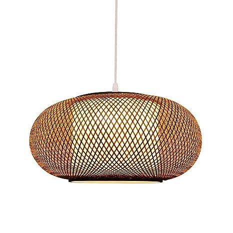 Amazon.com: TopDeng - Lámpara colgante de ratán de bambú ...