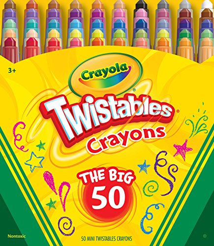 Crayola Mini Twistables Crayons, Amazon for Kids, 50Count