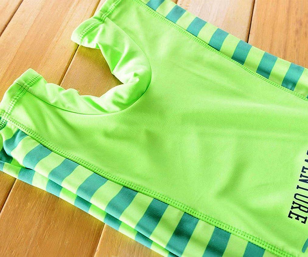 Toddler Baby Boy Summer Long Sleeve One Piece Rash Guard Swimsuit Sun Protection