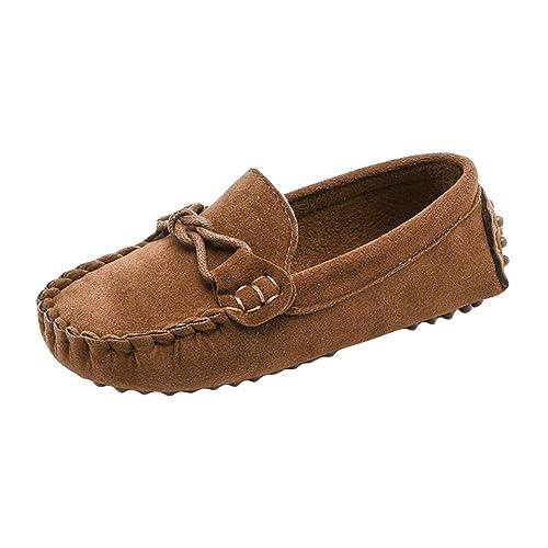 Niños Niñas Zapatos Casuales Mocasines Antideslizantes Moda Zapatos Suaves Gamuza Comodidad Unisex Zapatos para Niños Pequeños: Amazon.es: Zapatos y ...