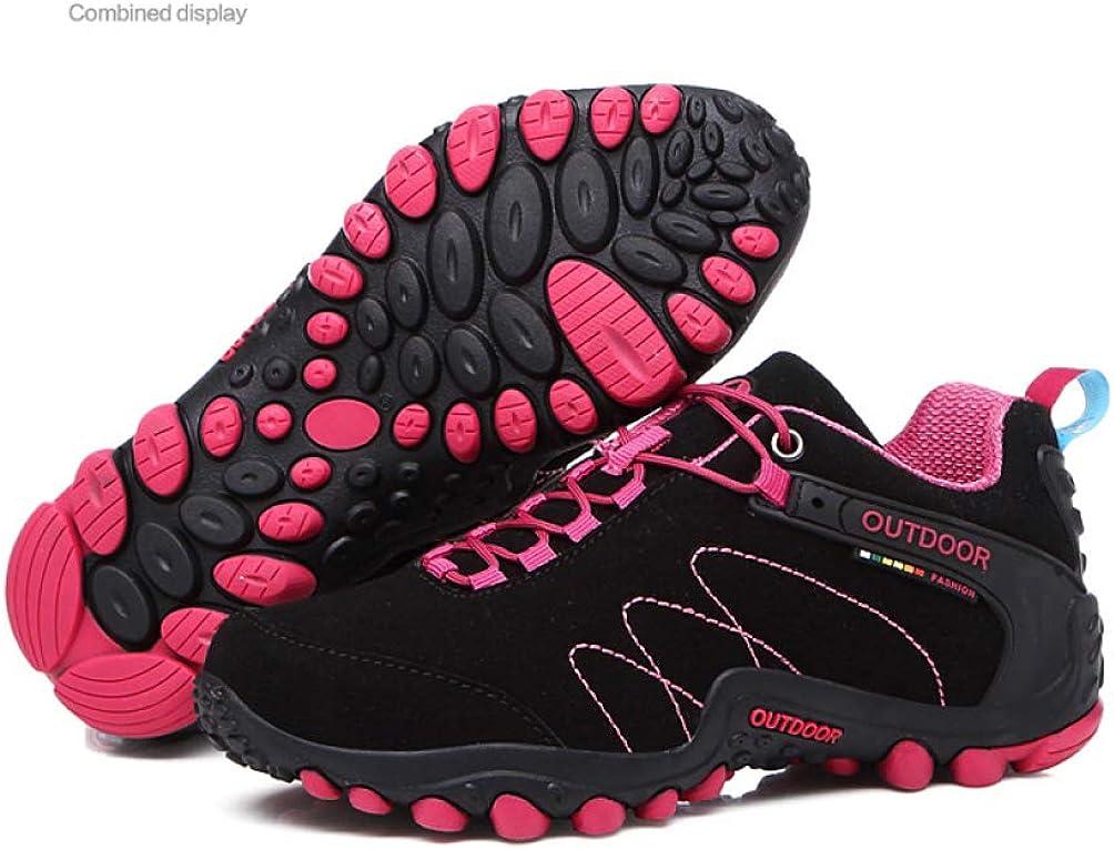 Scarpe da Ginnastica da Donna per Ginnastica Atletica Scarpe da Jogging Flessibili con Suola Antiscivolo in Pelle Scamosciata Sintetica Nero