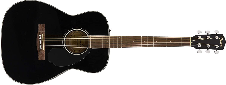 Fender CC-60S Beginner Concert Pack, Black with Gig Bag, Strap, Picks, Strings, and Fender Play