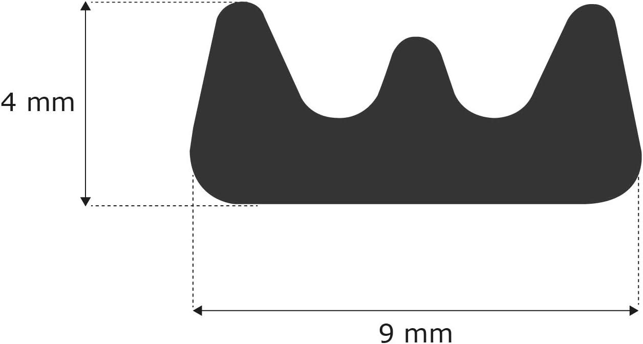 Profil selbstklebend 6 m Dichtung Gummidichtung f/ür T/ür Fenster Toolerando T/ürdichtung Fensterdichtung Dichtungsband P wei/ß