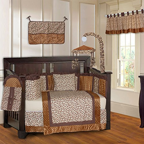 BabyFad Leopard Print 10 Piece Baby Crib Bedding Set ()